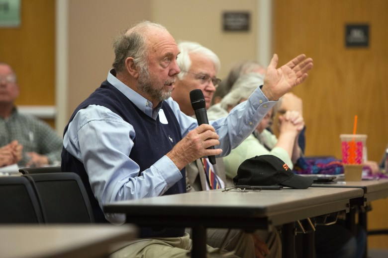 Ager asks question about national forests during forum