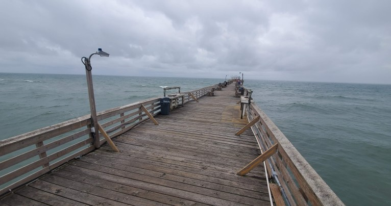 pier Atlantic Beach NC coast economy habitat tourism