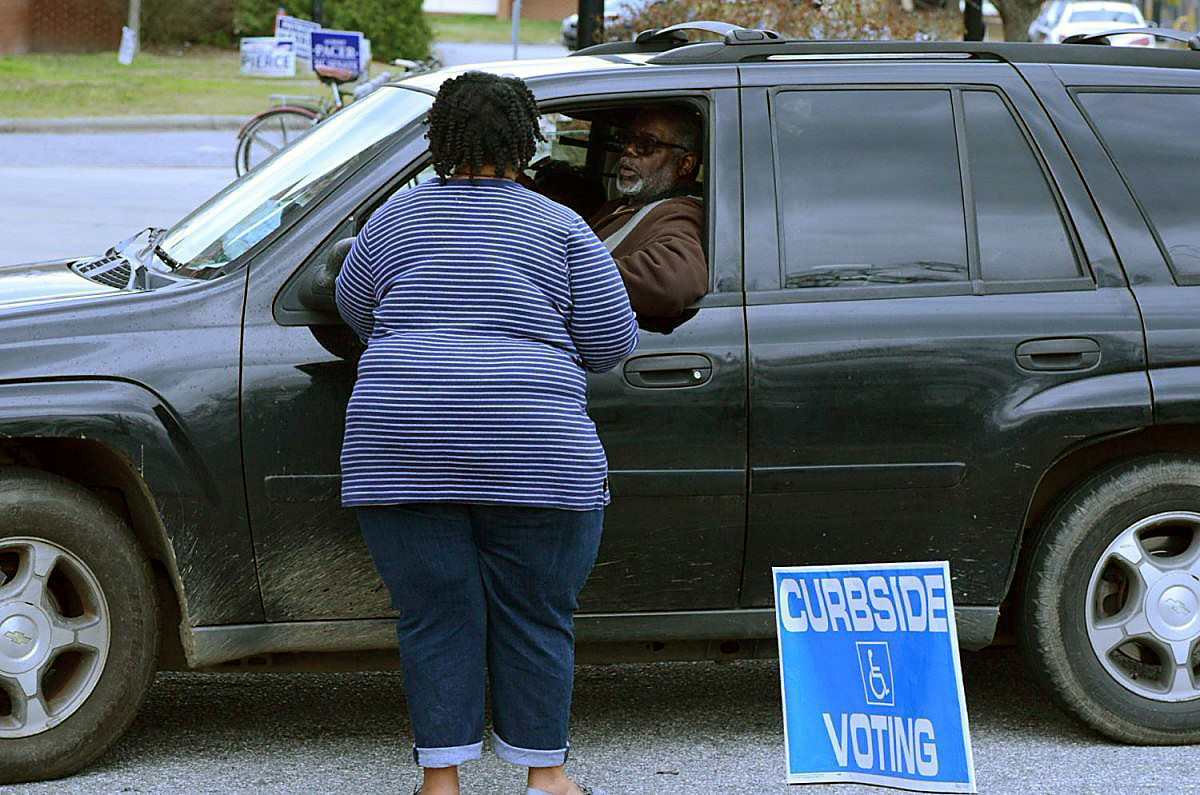 Nash County curbside voting for 2020 primary.