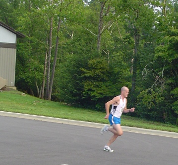 Ernest Shephard Taking 3rd Place Overall at the Sourwood 5k