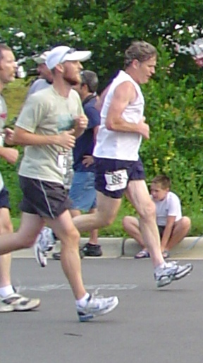 "Dennis Duffy (right) Fighting for the Honor of ""72nd Place Overall"""