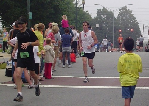 Finishing the ACT Half Marathon
