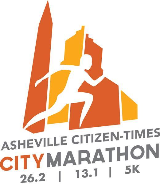 Asheville Citizen-Times City Marathon + Half Marathon – Course Map on
