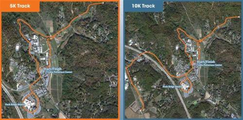 Frostbite 5k and 10k Course Maps