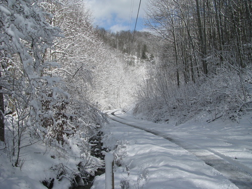 Winter in the Mountain North Carolina