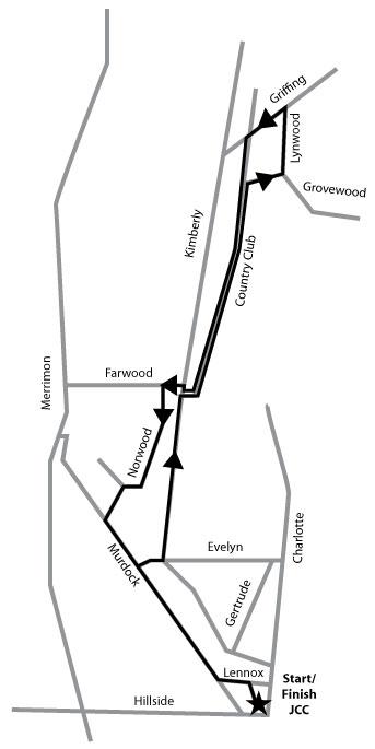 Falafel 5k Course Map