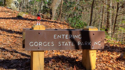 Gorges State Park Sign