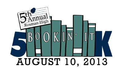 Rosman Bookin It 5k 2013 Large Logo