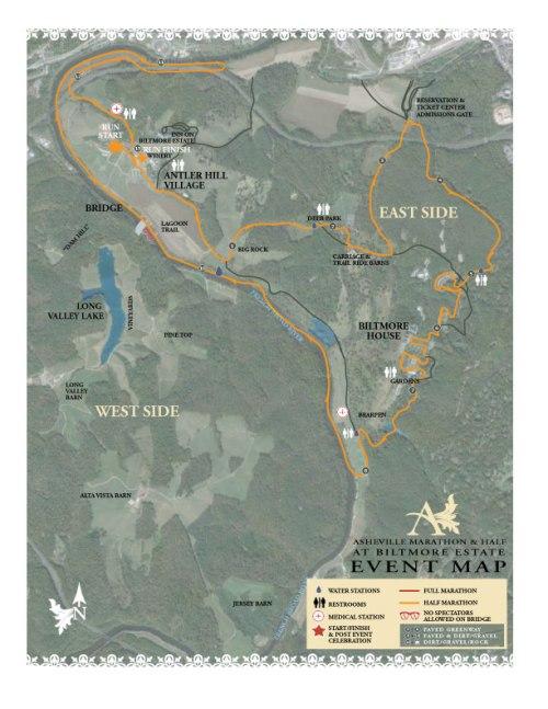 Half Marathon Course Map (not to scale)