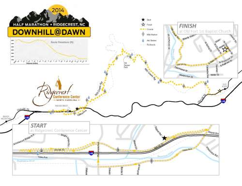 Downhill At Dawn Course Map (click for larger image)