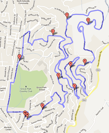 Sunset Stampede 15k Course Map - Click for Interactive Version