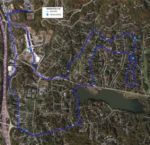 Armor Run 10k Course (click image for larger version)