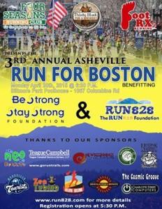 Asheville Run for Boston Biltmore Park April 20 2015