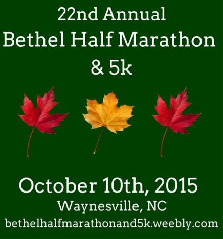 Bethel Half Marathon and 5k 2015