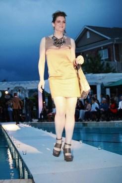 slim gold dress