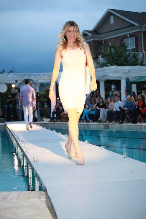 slim white dress