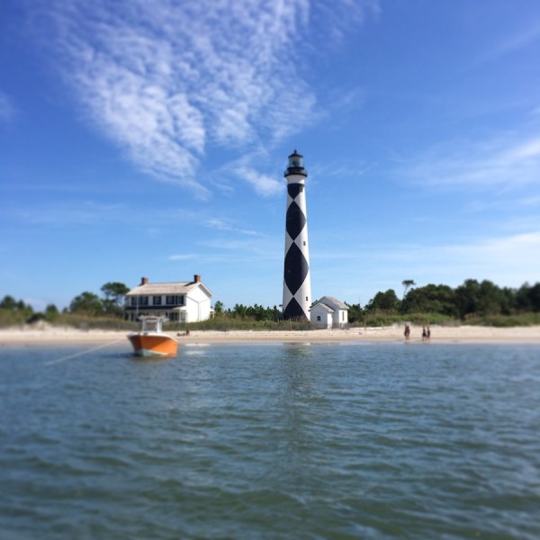 View of the Cape Lookout Lighthouse from my Ferry