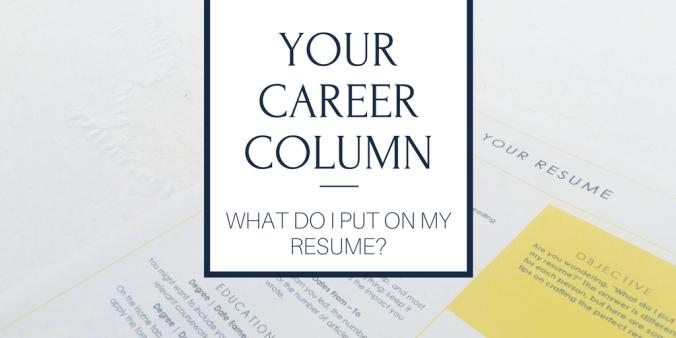 what do i put on my resume