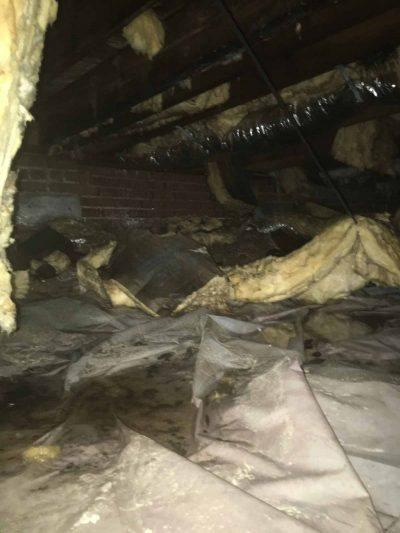 Clayton NC Crawlspace Damage