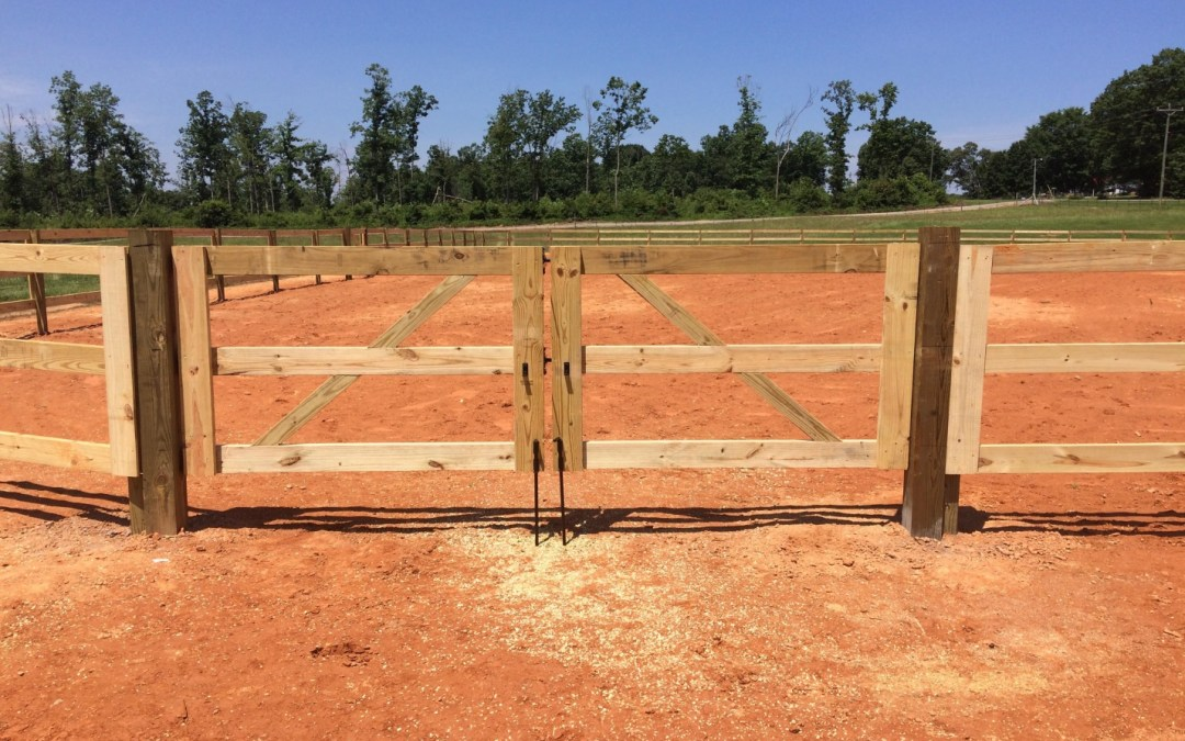 Wood Fencing for Horse Arena