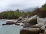 One of many beaches in the Tayrona park