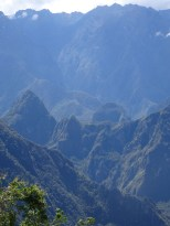 Close up view over to Machu Picchu