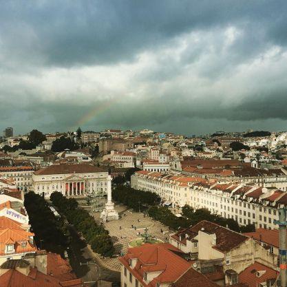 Rainbow over Lisbon