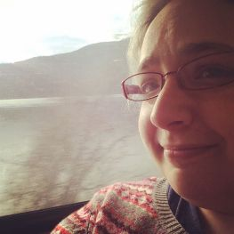 Just me on a train