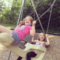 Swinging sisters!