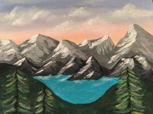 Painting mountains with Zealous Art Party!