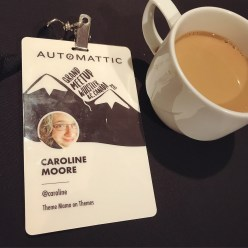 It's all about the conference name tag and the endless coffee.