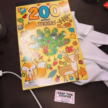 I won cute stickers!