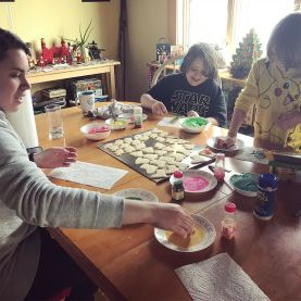 Cookie decorating party.