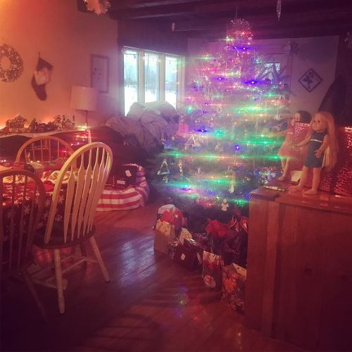Christmas morning dawns a bit fuzzy; I think there was something on my phone camera lens.