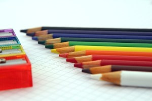 Lined up pencils