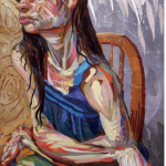 Painting of a woman in pain