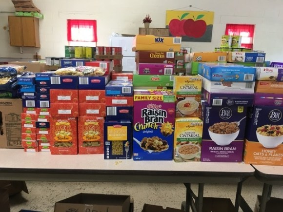 food donation from Bethel Grove Bible Church