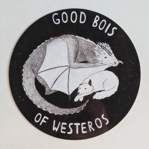 good bois of westeros sticker