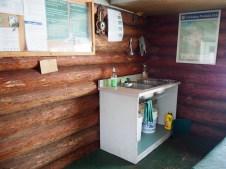 Clean-up facilities at cabin