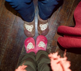 Slippers supplied at Riverside Bungalows restaurant—C.Helbig