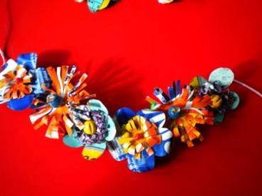 Bijoux fleurs de cannettes