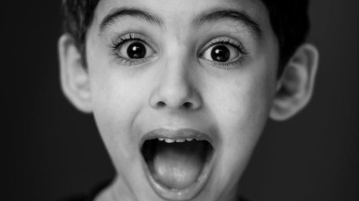 boy with surprised expression