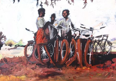 the work of World Bicycle Relief - acyriic on card