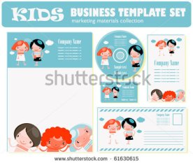 stock-vector-kids-business-template-set-kids-style-corporate-template-61630615