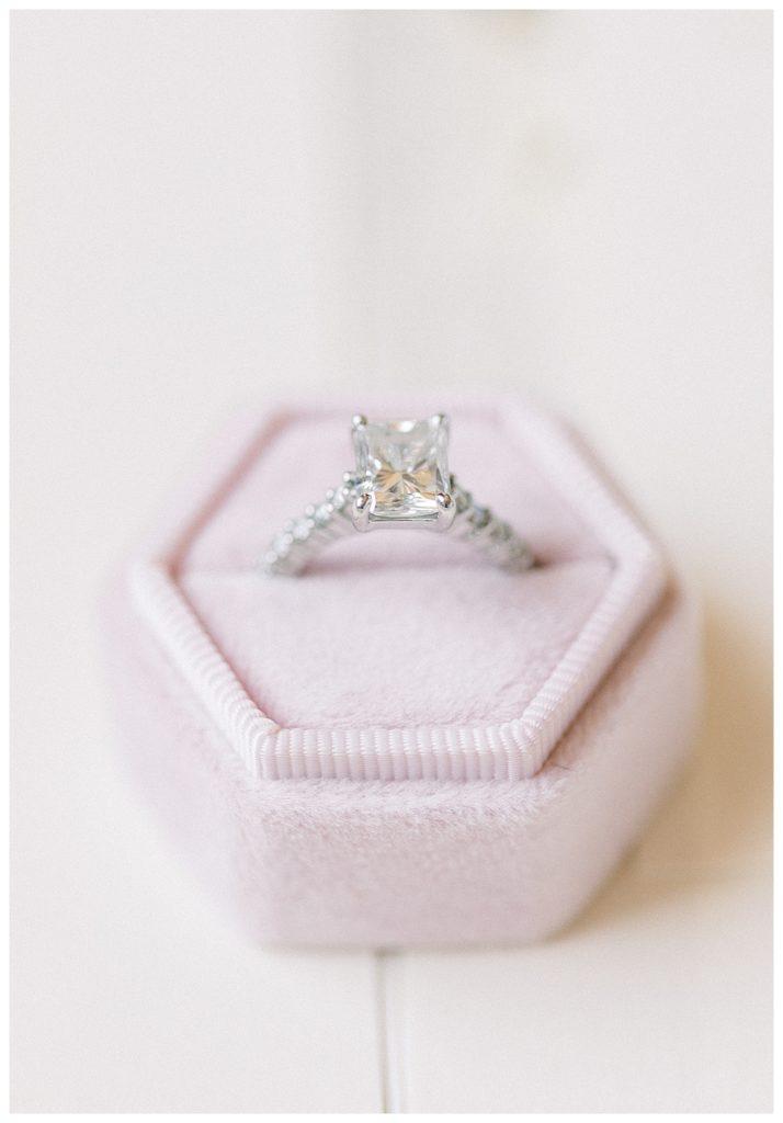 engagement ring at Hotel Monaco in Philadelphia, PA