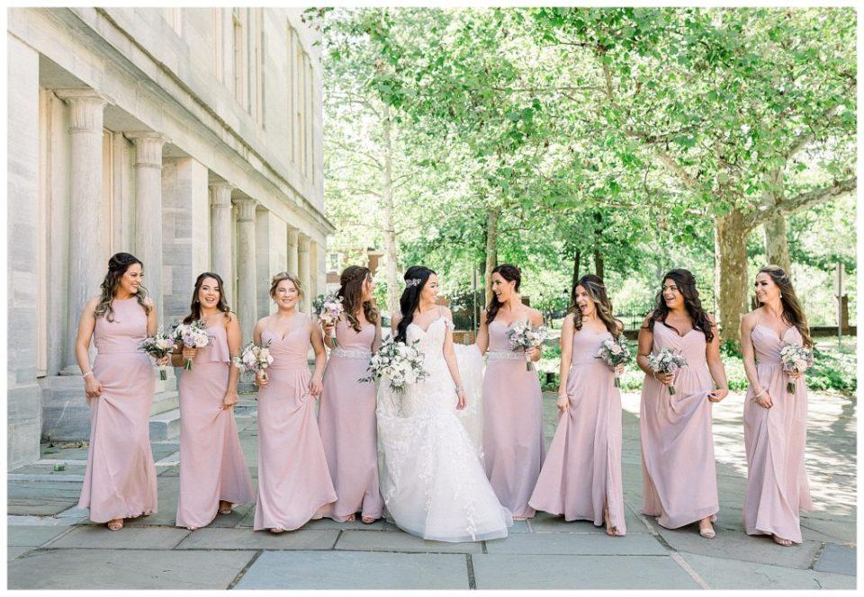 Bridesmaids at the Ballroom at the Ben in Philadelphia, PA