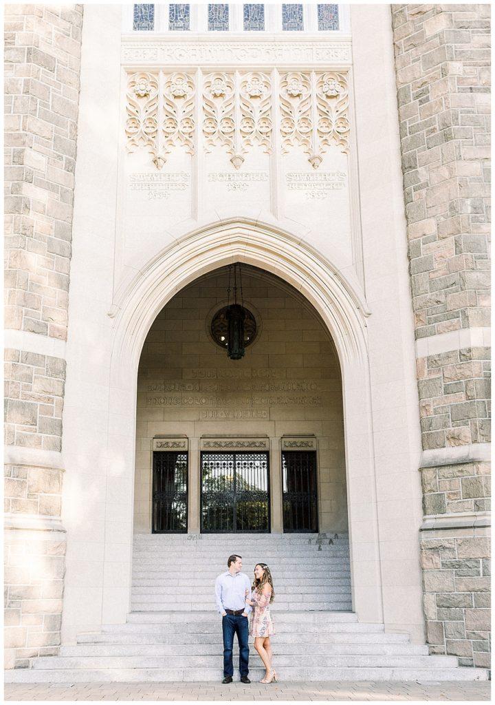 Fordham University Engagement   Caroline Morris Photography