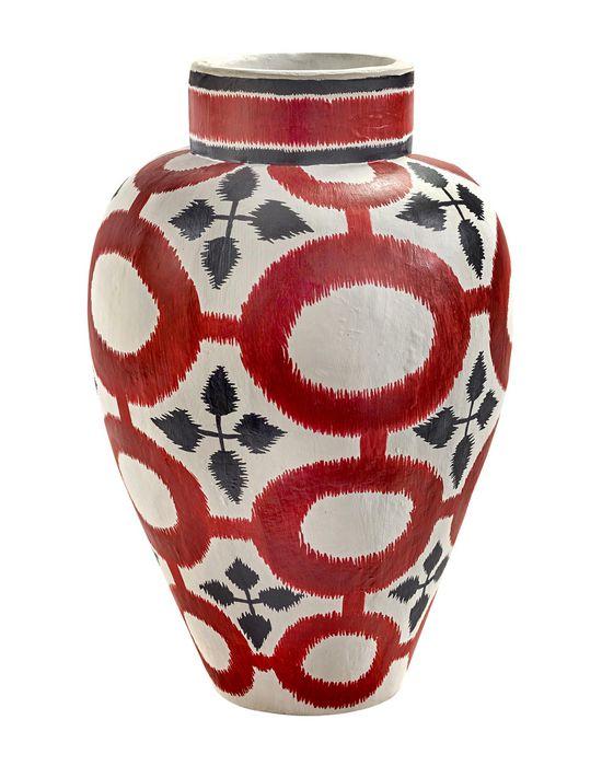 Point intelligent ISABELLE DE BORCHGRAVE PAPER VASE RED SERAX Vase CHAUSSURES Blanc Papier YT9839
