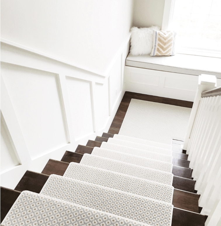 How To Choose And Lay A Stair Runner An Overview Caroline On Design | Running Carpet For Stairs | Stair Tread | Hardwood | Wood | Grey | Stair Runners