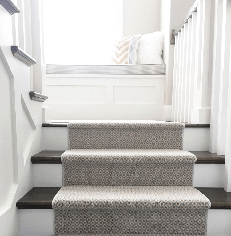 How To Choose And Lay A Stair Runner An Overview Caroline On Design | Grey Carpet Stairs And Landing | Teal | Open Plan | Pinterest | Commercial | Wall